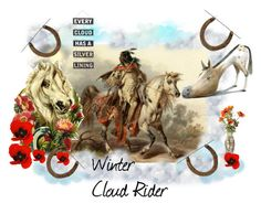 """""""Winter Cloud Rider"""" by catfabricsandbuttons ❤ liked on Polyvore featuring art, Cloud and WinterCloudRider"""