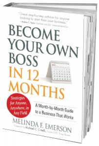 Become Your Own  Boss  This book by Melinda F. Emerson provides a month-by-month guide of logical steps to start a business that works.