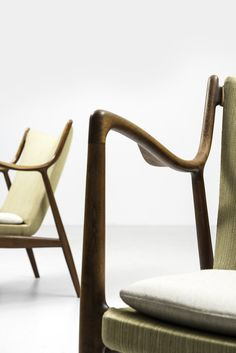 Finn Juhl easy chairs model NV-45 by Niels Vodder at Studio Schalling