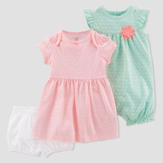 e484f620f9b Baby Girls  2pk Dress and Romper Set - Just One You® made by carter s  Mint Orange