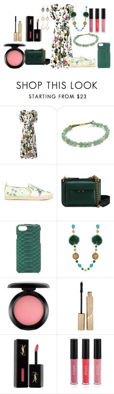 """its a spring outfit"" by hillarymaguire ❤ liked on Polyvore featuring VIVETTA, Gorjana, Etro, Marni, Valenz Handmade, Dolce&Gabbana, MAC Cosmetics, Stila, Yves Saint Laurent and Sigma"
