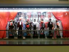Moulin Rouge costumes display in one of our NYC stores! #halloween