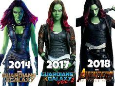 """1,522 Likes, 17 Comments - Zoë Saldaña Br (@zoesaldanabr) on Instagram: """"Evolução da personagem Gamora! #zoesaldana #GuardiansOfTheGalaxy #GotgVol2 #infinitywar"""""""