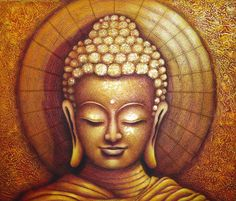 Buddha oil painting in Thailand Buddha Kunst, Buddha Zen, Gautama Buddha, Buddha Wisdom, Budha Art, Budha Painting, Buddha Artwork, Coffee Painting, Buddhist Art