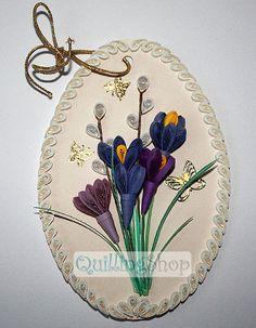Quillingshop: Пасхальная открытка крокусы в технике квиллинг