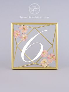 Wedding Table Numbers, Pressed Flower Table Numbers, Floral Table Numbers, Gold Table Numbers, Geometric Wedding Decor, Glass Table Numbers, Modern Table Numbers, Minimalist Table Numbers, Geometric Table Decor, Calligraphy Table Numbers, #tablenumbers #weddingsigns
