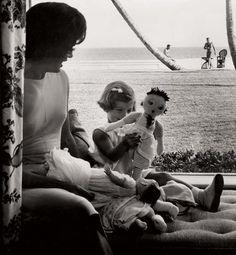 Jackie, Caroline and President-elect Jack Kennedy by Richard Avedon