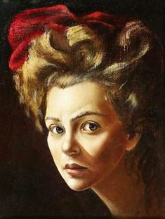 Self portrat of the Argentine artist Leonor Fini (1908-1996)