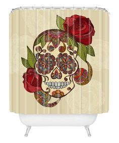 Look at this #zulilyfind! Sugar Skull Shower Curtain by DENY Designs #zulilyfinds