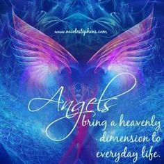 Angels bring heavenly dimension to everyday life!  ♡♡♡  Repinned by An Angel's Touch, LLC, d/b/a WCF Commercial Green Cleaning Co., Denver's Property Cleaning Specialists! http://angelsgreencleaning.net