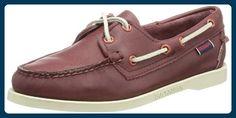 Sebago DOCKSIDES B500010, Damen Bootschuhe, Rot (MERLOT), EU 38.5 (UK 5.5) (US 8) - Bootsschuhe für frauen (*Partner-Link)