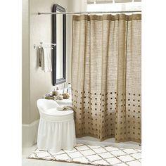 Bamboo Trellis Bath Mat And Burlap Shower Curtain Bathroom Curtains Farmhouse
