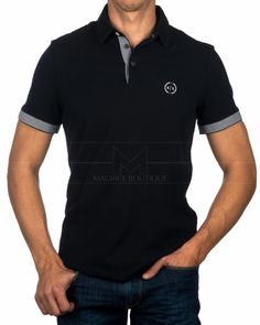 Polo Armani Exchange - Azul Marino Camisa Polo, Camisa Floral, Polo Design, Summer Shirts, Hugo Boss, Emporio Armani, Casual Wear, Men Dress, Mens Fashion
