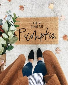 I would love a doormat for the apartment with a cute saying like this one!