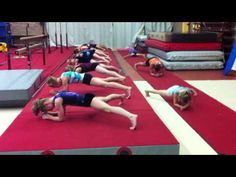 "gymnast ab workout! To Beyoncé's ""run the world"". You really feel the burn after!"