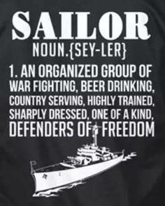 US Navy Sailor definition Marine Humor, Navy Memes, Navy Humor, Military Quotes, Military Humor, Military Veterans, Go Navy, Royal Navy, Navy Man