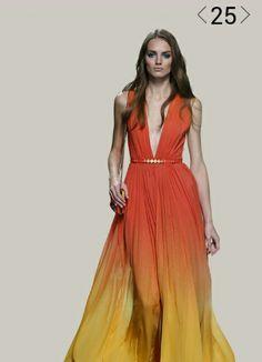 Elie Saab drees orange spring collection