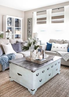 After-Christmas Winter Mantel and Living Room | http://blesserhouse.com - A tour of an after-Christmas winter mantel and living room with thrifty ideas and creative budget decor to help bring warmth and life to your home. popular pins