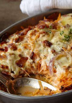 Chicken, Sweet Potato and Bacon Casserole Recipe