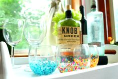 An easy cheap diy knockoff of Anthropologie drink glasses