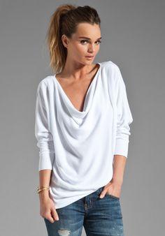 LA MADE Thermal Aidan Dolman in White at Revolve Clothing