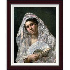 "Global Gallery Spanish Dancer by Mary Cassatt Framed Painting Print Size: 26"" H x 20.7"" W"