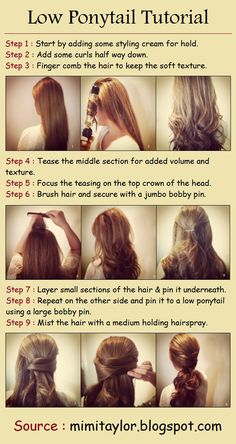 Low Ponytail Tutorial | PinTutorials