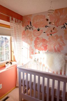 painted peonies in nursery