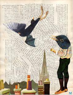Mirlo vertical Blackbird, Early Childhood, Visual Arts