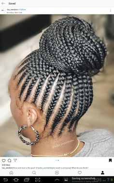 Braids With Weave, Box Braids, Black Hair Bun, Braided Hairstyles, Cool Hairstyles, Corn Rows, Faux Locs, Braided Ponytail, Amazing Hair