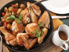 Easy dinner #recipe: Juicy, crisp-skilled chicken in just one cast iron pan.