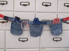 Blue+Jean+Banner+/+3+pockets+by+woowoowoobie+on+Etsy,+$27.99