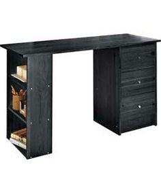 Malibu 3 Drawer Home Office Desk - Black.