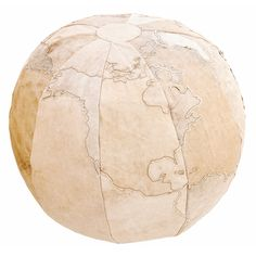Save the World Canvas Pouf  by Karma Living
