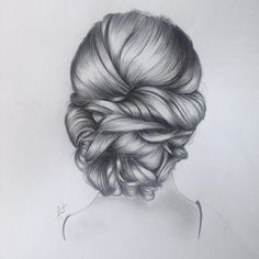 Draw Hairstyles Popular hair ideas you can try! Pencil Drawings Of Nature, Cool Art Drawings, Realistic Drawings, Easy Drawings, Drawing Faces, Girl Drawing Sketches, Cute Girl Drawing, Hair Sketch, Polychromos