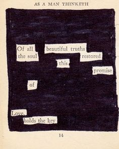 black-out poetry.