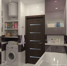 дизайн-проект ванной комнаты в черно-белом цвете
