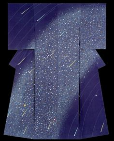 """Kiroboshi"".   Kimono created by Kiroboshi Onozuka.  Seiko Kimono Culture Foundation Award.  33rd Annual Meeting of the Japanese textile artist Exhibition award work.  Japan"