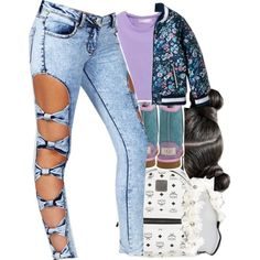 Untitled #384 by trillestqueen on Polyvore featuring polyvore, fashion, style, Boohoo, MCM, Full Tilt and UGG Kids
