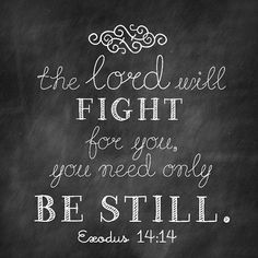 The Lord will Fight for you...