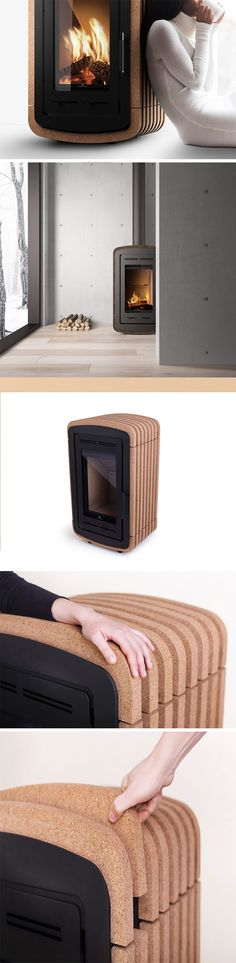 It's one thing to feel the warmth of a fire from a distance and something entirely different to touch it. That's the idea from Natura, an innovative stove and winner of a 2017 RedDot Design Award.