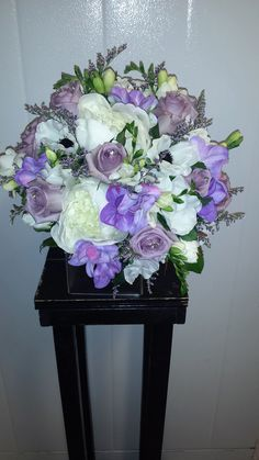 Soft lilac and white is great for a vintage style wedding