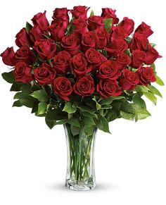 Love and Devotion - Long Stemmed Red Roses Flowers, Love and Devotion - Long Stemmed Red Roses Flower Bouquet - Teleflora.com