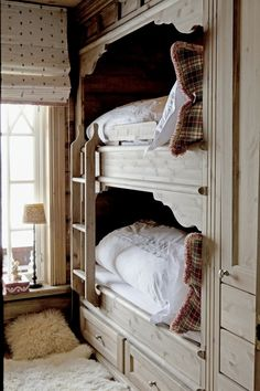 Cubby beds with drawers