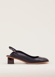 Robert Clergerie Paca Slingback Heel (Black)
