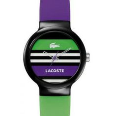 Buy Lacoste Goa Tennis Ladies Watch 2020007 online - Plastic case. Silcone strap. Black dial. Quartz movement. Water resistant 30 meters. Case...