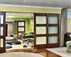 Love these doors for the home gym! #homegym www.OakvilleRealEstateOnline.com