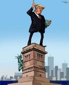 Donald Trump président : Top 18 des caricatures