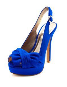 Pleated-Bow Slingback Heel