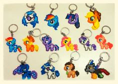 My Little Pony keyrings Hama Beads by LaurentChokobita on deviantART